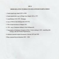 Box File 10 : Deeds relating to Ridge End Hollinwood, Marple Ridge