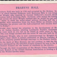 Various Historical Notes : Brabyns