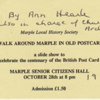 Ticket : A walk around Marple In Old Postcards : 1994