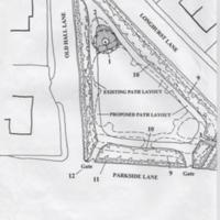Plan of Proposed Restoration of Mellor Memorial Garden : No date