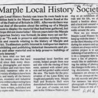 Extract from The Ridge No 2 : Marple Local History Society