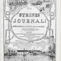 Booklet & typed draft : The Strines Journal 1852 - 1860 : An Appreciation by Gladys A Swindells