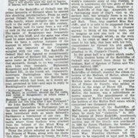 Newspaper Article relating to Mellor Hall