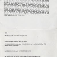 Misc information of Bridges/Roads Marple