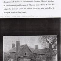 Henry Bradshaw 1606-1620. Short History plus Photos of Place (Peace Farm)