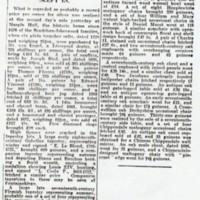 Newspaper report of Sale : Marple Hall Treasures Sold