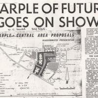 Newspaper Cutting : Proposals for Marple Centre Development : 1965