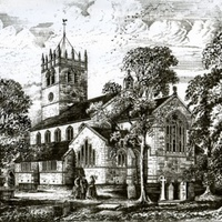 Engravings of Old All Saints Church  & Interesting Gravestones