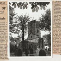 Demolition of Old Church : 1959