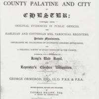 Extract : History of the County Palatine and City of Chester