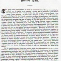"""Extract """" The Old Halls,  Manors & Families of Derbyshire """" : Tilley"""