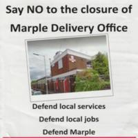 Flyer : Possible  Closure of Delivery Office Protest : 2016
