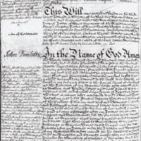 John Pimlotts Will dated 1761