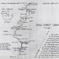 Peak Forest Canal Hand drawn Map : 1967