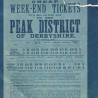 Rail Ticket for Midland Railway to Peak District : 1904