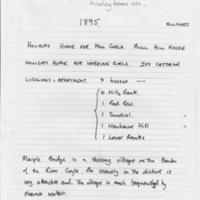 Research Notes :  Holiday Homes in Mellor : 1895