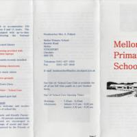 Mellor Primary School Leaftet : 2005