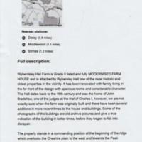 Wybersley Hall Farm Sales Details : 2012