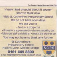Newspaper Cuttings  relating to  St Catherine's Preparatory School