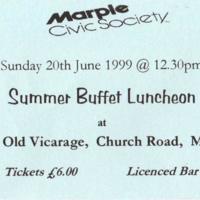 Summer Buffet Ticket  20th June 1999