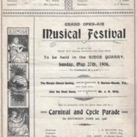 Musical Festival at the Ridge Quarry : 1906