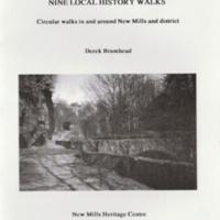 Booklet : Nine Local History Walks : Derek Brumhead : 1998