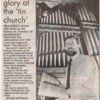 Newspaper Cutting: Tunes of Glory at Tin Church : 1997
