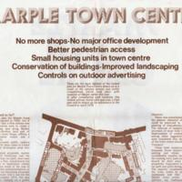 Poster : Exhibition Revised plan for Marple Town Centre : 1975