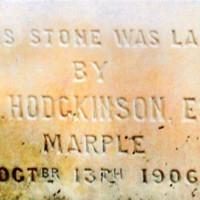 Photographs of Foundation Stone : Mrs Frank Barlow & W B Wilkinson : 1906