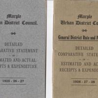 Two Booklets : Statements with Receipts / Expenditure : 1920's