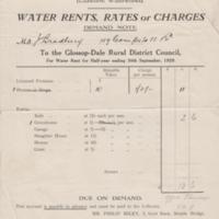 Rates Receipts / Demands : Various Dates