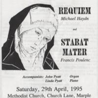 "Programme for Marple Choral Society ""Requiem"" : 1995"