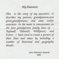 William Aspinall : Family Details / Compstall Memories