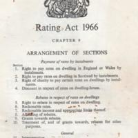 Leaflet  : Rating Act 1966