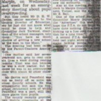 Newspaper Cuttings relating to Peacefield School from 1973