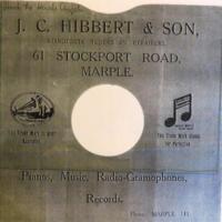 Record Sleeve : J C Hibbert & Son, Marple