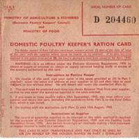 Selection of Ration Books from WW1 & WW2