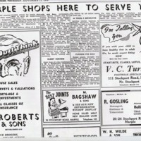 Material on Maple Shopping Area : Newspaper Articles : Various Dates