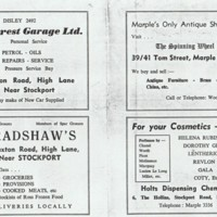 Local Businesses advertising in Marple Guide : 1960's