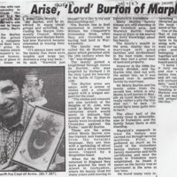 Monty Burton Family : Newspaper Articles