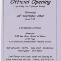 Official Opening of Mellor Parish Centre : 2002