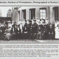 Photograph of Dignitaries at Brabyns Military Hospital : 1916