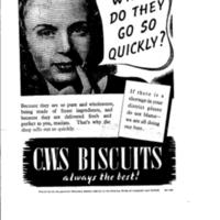 Advertisement for C.W.S.  Biscuits