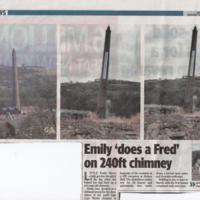 Demolition of Strines Printworks Chimney : 2007