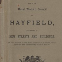 Byelaws of Rural District Council : Hayfield 1899