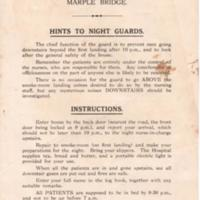 Original Notice for Night Guards at Military Hospital : 1915
