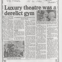 Newspaper / Magazine cuttings relating to Carver Theatre