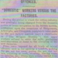 """Newspaper Report on """"Fines for all Kinds of Offences"""" in Mills"""