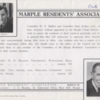 Marple Residents' Association Information Leaflets
