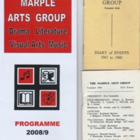 Diary of Events / Programmes for Marple Arts Group from 1967